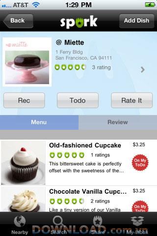 Spork für iOS - Suche nach Lieblingsessen