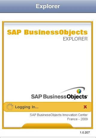 SAP Business Objects Explorer pour iPhone pour iPad