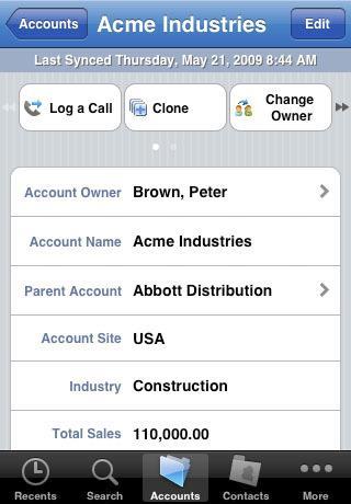 Salesforce Mobile für iPhone