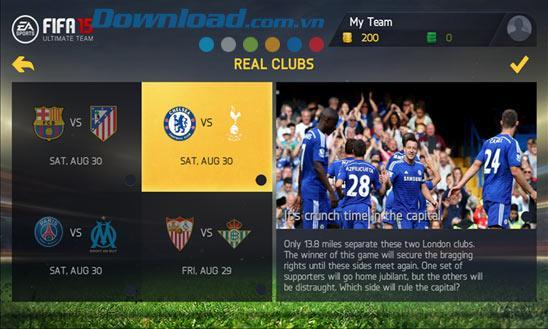 FIFA 15 Ultimate Team pour Windows Phone 1.6.6.0 - Jeu de football ultime sur Windows Phone