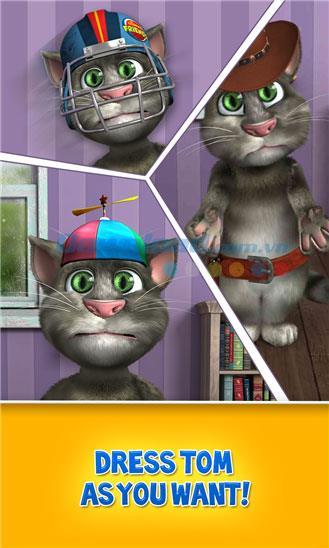Talking Tom Cat 2 pour Windows Phone - Jeu de chat Tom imitant une drôle de voix humaine