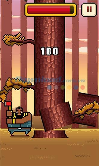 Timberman für Windows Phone 1.0.0.0 - Spiel Holzschneiden von Brennholz unter Windows Phone