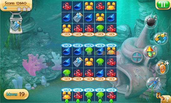 AniCrush - Under the Sea pour Windows Phone 1.1.1.1 - Jeu de connexion de créatures marines sur Windows Phone