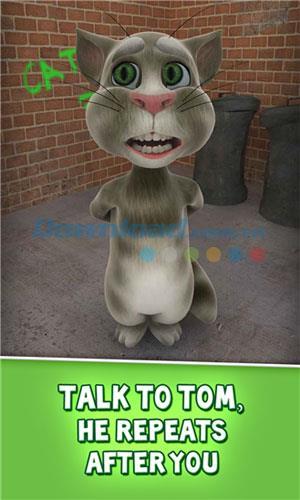 Talking Tom Cat pour Windows Phone 2.5.0.0 - Cat Tom imitant la voix humaine sur Windows Phone