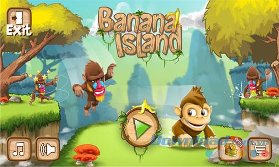 Banana Island für Windows Phone 1.0.0.2 - Affenspiel, das auf Banana Island für Windows Phone ausgeführt wird