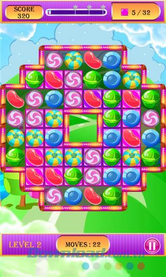 Candy Hero Story für Windows Phone 1.0.0.0 - Tauschen Sie süße Süßigkeiten auf Windows Phone aus