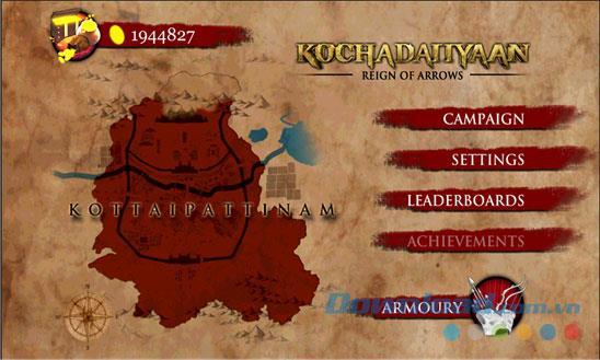 Kochadaiiyaan The Legend Reign of Arrows für Windows Phone 1.0.0.0 - Kriegsheldenspiel für Windows Phone