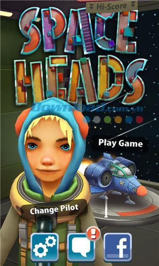 Space Heads für Windows Phone 1.0.0.0 - Weltraumrennen unter Windows Phone