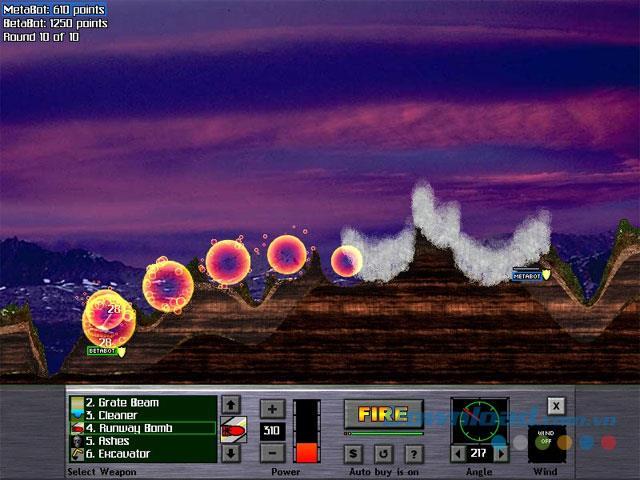 Atomic Cannon Pocket Demo - Game Shoot erhöht die Grafik umwerfend