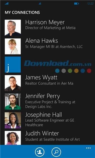 LinkedIn for Windows Phone 1.5.0.0-WindowsPhoneのLinkedInソーシャルネットワーク