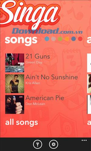 Singa für Windows Phone 1.0.6.2 - Singen Sie Karaoke auf Windows Phone
