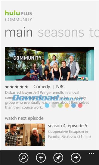 Hulu Plus pour Windows Phone 1.2.0.0 - Regardez des films et des émissions de télévision sur Windows Phone