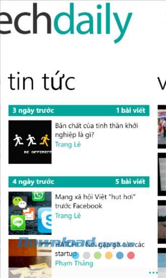 TechDaily für Windows Phone 1.0.0.0 - Anwendung zum täglichen Lesen von Nachrichten