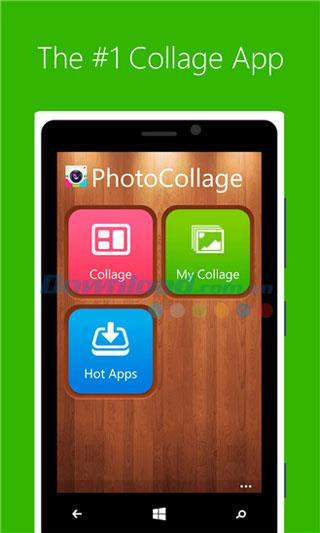 PhotoCollage pour Windows Phone 2.3.0.123 - Application de collage sur Windows Phone