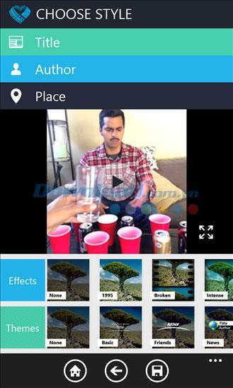 Video Shop pour Windows Phone 2015.126.1747.416 - Logiciel de montage vidéo sur Windows Phone