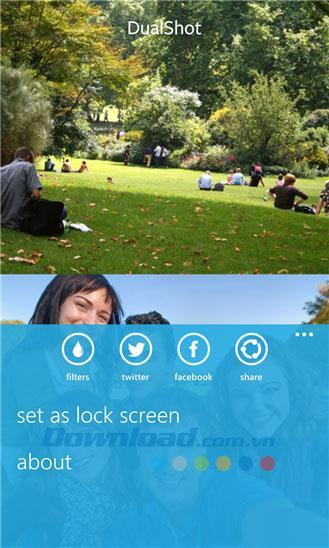 DualShot pour Windows Phone 1.0.1.0 - Prenez des photos avec 2 caméras de téléphone en même temps