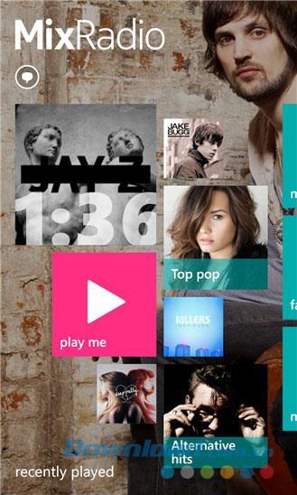 Nokia MixRadio pour Windows Phone 4.4.0.419 - Application de diffusion de musique sur Windows Phone