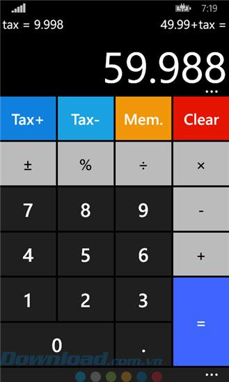 Calculatrice² pour Windows Phone 2.10.0.0 - Calculatrice intelligente sur Windows Phone