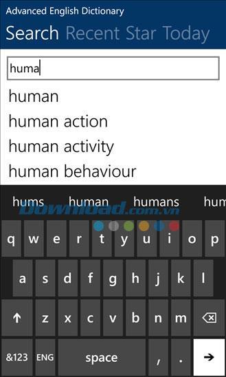 Dictionnaire anglais avancé gratuit pour Windows Phone 3.1.0.0 - Dictionnaire anglais avancé pour Windows Phone