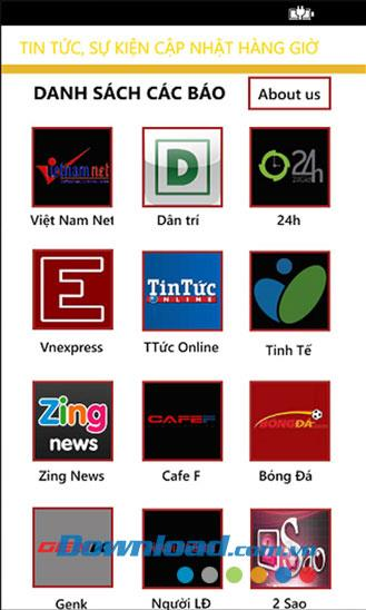 Windows Phone1.1.0のベトナム語ニュース-毎日のニュースを合成する