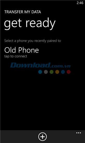 Transférer mes données pour Windows Phone 6.0.1.64 - Transférer la liste des contacts entre 2 téléphones
