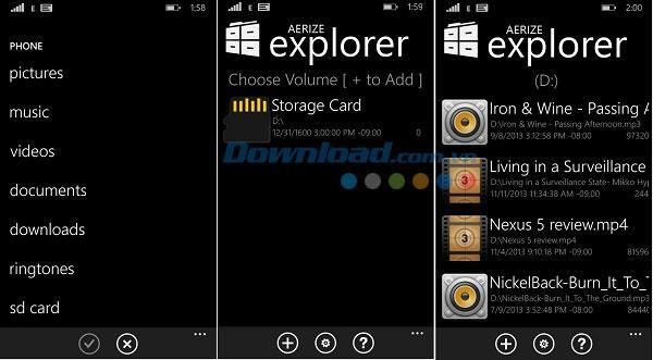 Aerize Explorer für Windows Phone 1.1.0.4 - Daten unter Windows Phone verwalten