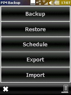 PIM Backup 3.6 - Sichern und Wiederherstellen von Daten für Poket PC