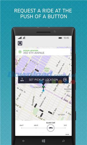 Uber pour Windows Phone 2.3.4.5 - Call Taxi, embaucher un chauffeur privé sur Windows Phone