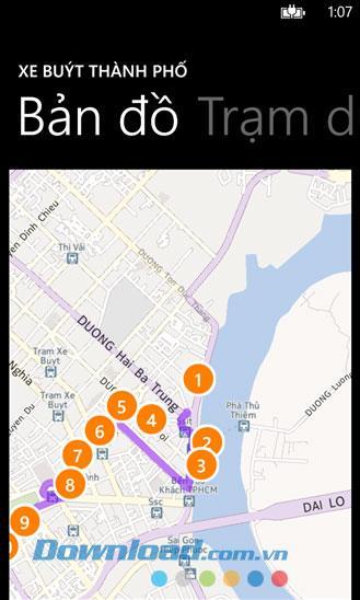 BusMap für Windows Phone 1.0.1.0 - Informationen zum Saigon-Bus suchen