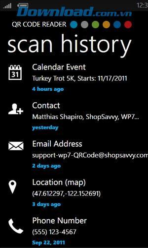 Lecteur de code QR pour Windows Phone 1.4.0.0 - Lisez les codes QR gratuitement sur Windows Phone