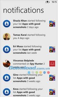 App Social für Windows Phone 3.11.1.882 - Windows Phone-Anwendung auf Nokia Phone suchen
