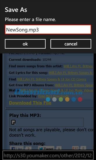 Datei-Downloader für Windows Phone 1.15.0.0 - Verwalten Sie Download-Dateien auf Windows Phone