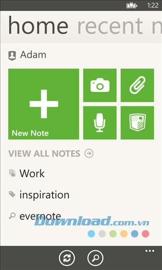 Evernote for Windows Phone-リマインダー、WindowsPhoneに関するメモ
