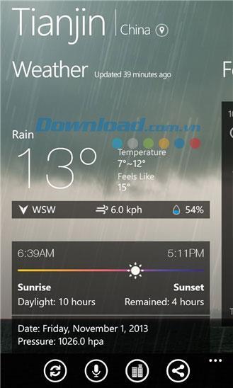 MoWeather für Windows Phone 1.2.0.1 - Wetteranwendung für Windows Phone