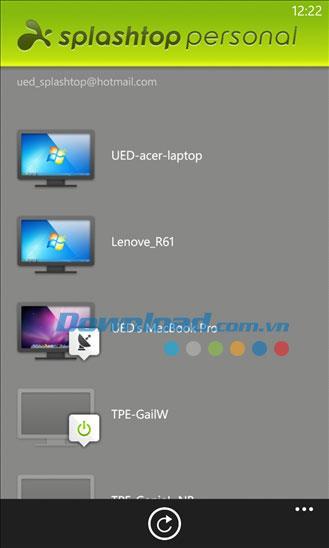 Splashtop Personal for Windows Phone2.1.0.2-WindowsPhoneのリモートPCアクセス
