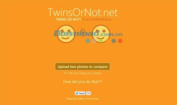 双子かどうか? -2つのポートレートの類似点を確認します