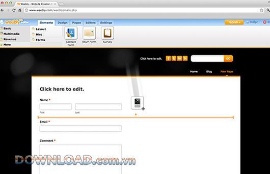Weebly-ウェブサイト、ブログ、オンラインストアを作成する