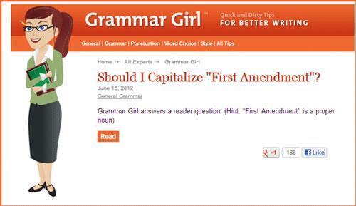 Grammar Girl - Excellent outil pour aider à améliorer la grammaire anglaise