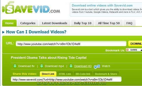 SaveVid-ウェブサイトからビデオをダウンロードする