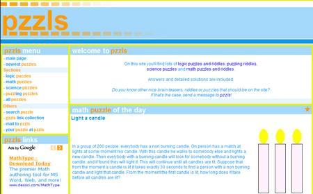 Pzzls-脳トレーニングのための英語のウェブサイト