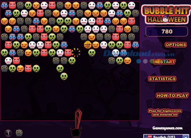 Bubble Hit Halloween - Jeu de tir à la balle d'Halloween