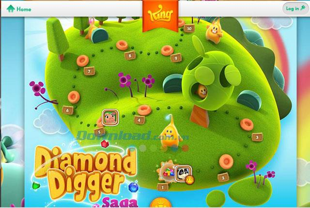 Diamond Digger Saga - Jeu de creusage de diamants en ligne