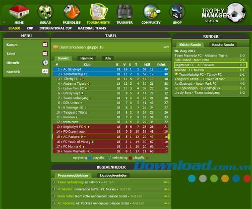Trophy Manager - Fußballmanager-Spiel im Browser