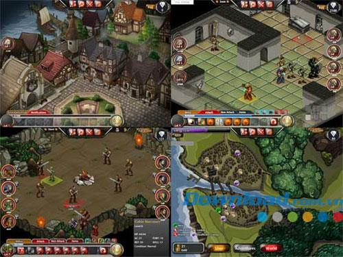 Dungeons&Dragons:Heroes ofNeverwinter-Facebookでのロールプレイングゲームの格闘モンスター