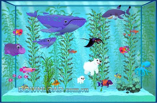 幸せな水族館-あなた自身の水族館を作成します