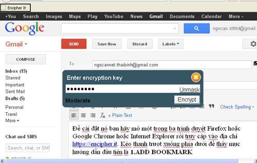 Chiffrer - Crypter l'e-mail avant de l'envoyer