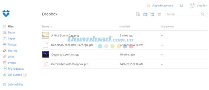 Dropbox Online - Online-Dienst zum Speichern und Freigeben von Daten