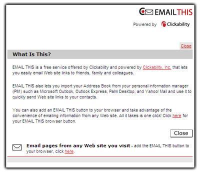 E-Mail senden - Webadressen online teilen und speichern