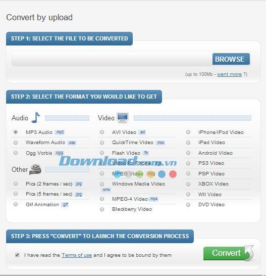 Bender Converter - Online-Konvertierungsdienst für Video- / Audioformate