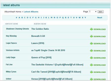 Albumwash - Laden Sie hochwertige internationale Musik herunter